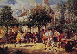Jean Louis Ernest Meissonier - Sunday in Poissy