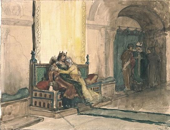 Study for the Excommunication of Robert the Pious by Jean-Paul Laurens (1838-1921, France) | Painting Copy | WahooArt.com