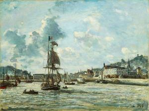 Johan Barthold Jongkind - Entrance to the Port of Honfleur