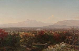 THE WHITE MOUNTAINS MOUNT WASHINGTON PAINTING BY JOHN KENSETT 1851 REPRO
