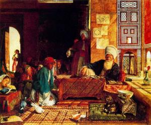 John Frederick Lewis - A Turkish School in the Vicinity of Cairo