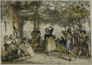 John Frederick Lewis - Spanish Peasants Dancing the Bolero