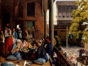 John Frederick Lewis - The midday meal, Cairo