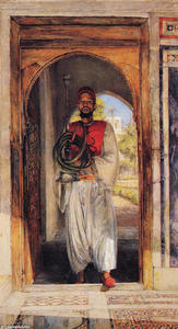 John Frederick Lewis - The Pipe Bearer