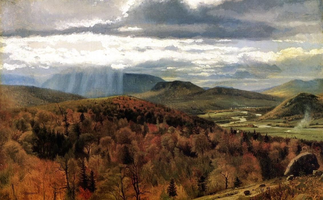 Autumn Landscape - Shelburne, VT by John George Brown (1831-1913, United Kingdom)