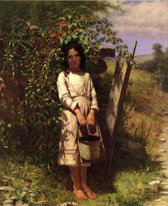 John George Brown - Blackberry Picking