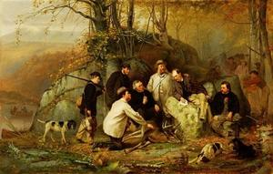 John George Brown - Claiming the Shot. After the Hunt in the Adirondacks