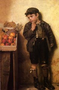 John George Brown - Eying the Fruit Stand
