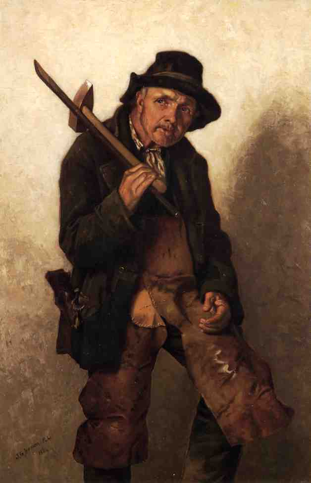 He Toils at Eighty, 1884 by John George Brown (1831-1913, United Kingdom) | WahooArt.com