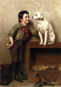 John George Brown - His Favorite Pet