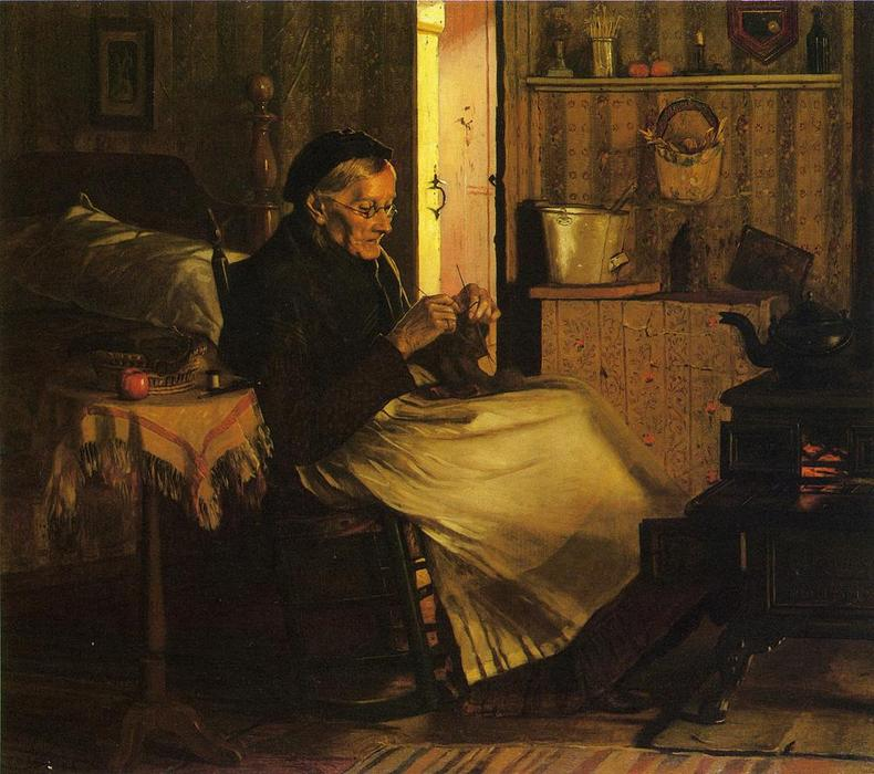 Home Comfort, 1893 by John George Brown (1831-1913, United Kingdom) | WahooArt.com