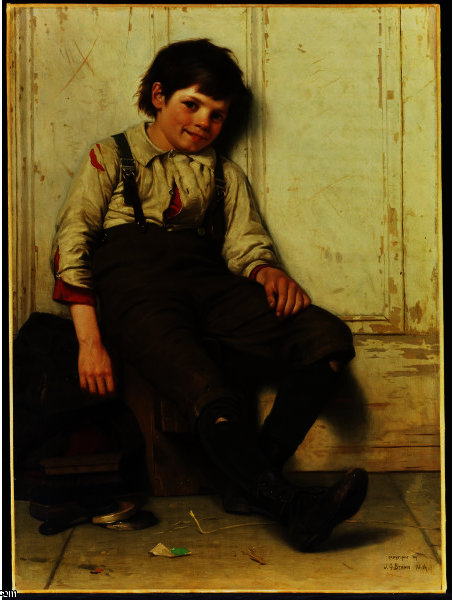 Lazy Bones by John George Brown (1831-1913, United Kingdom)
