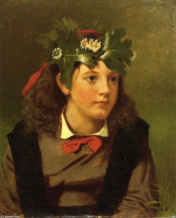 Little Miss Autumn, Oil On Panel by John George Brown (1831-1913, United Kingdom)