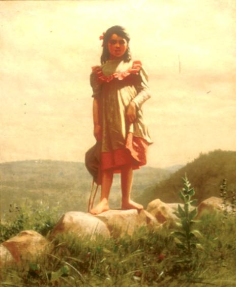 MAID OF THE HILLS by John George Brown (1831-1913, United Kingdom) | WahooArt.com