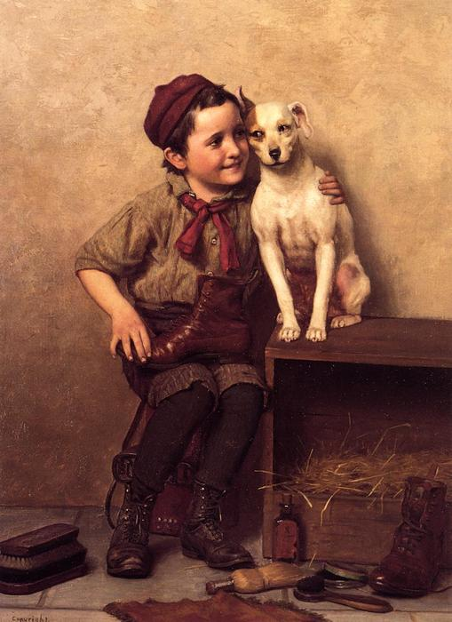 My Pardner, Oil On Canvas by John George Brown (1831-1913, United Kingdom)