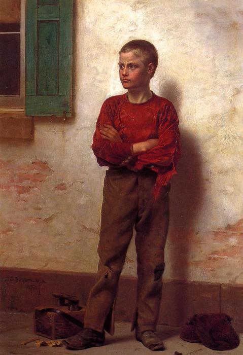 Not to be Trifled With, 1877 by John George Brown (1831-1913, United Kingdom) | WahooArt.com