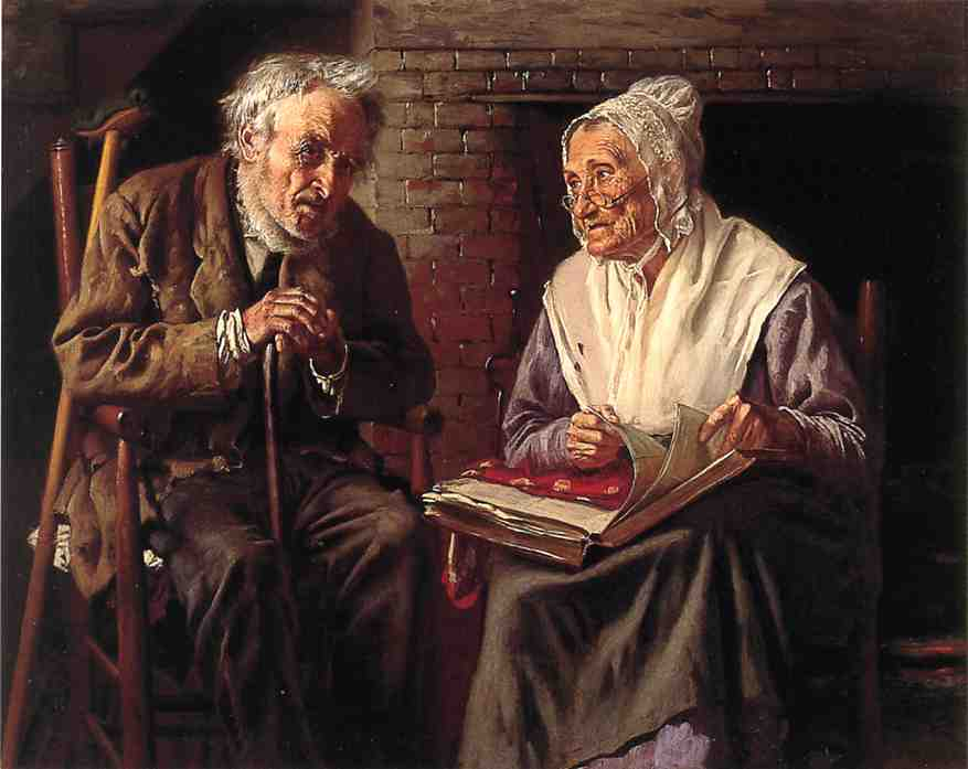 Old Memories, Oil On Canvas by John George Brown (1831-1913, United Kingdom)