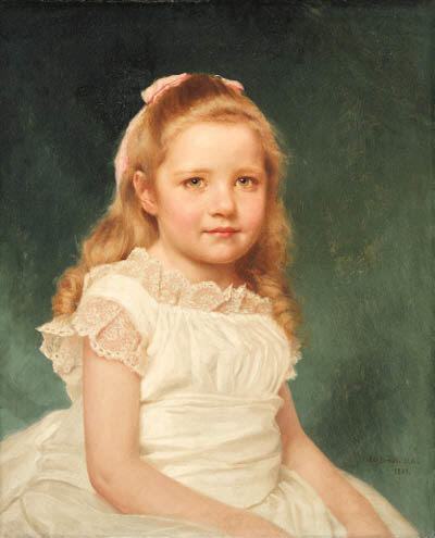 Portrait of a Girl by John George Brown (1831-1913, United Kingdom)