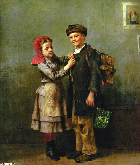 Saint Patrick's Day, Oil On Canvas by John George Brown (1831-1913, United Kingdom)