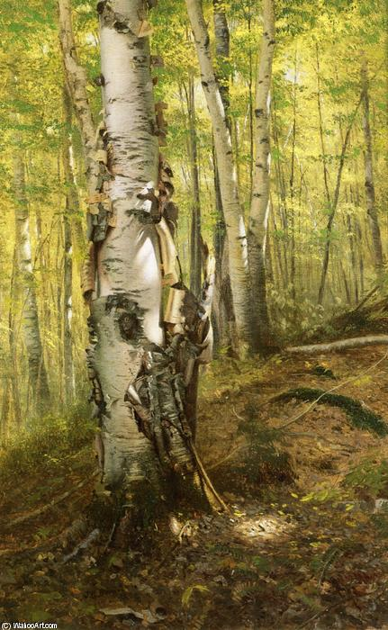 Silver Birches, Oil On Canvas by John George Brown (1831-1913, United Kingdom)