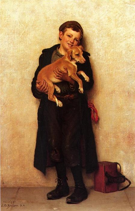 The Bootblack 1 by John George Brown (1831-1913, United Kingdom)
