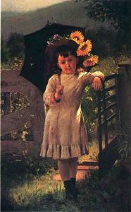John George Brown - The Sunflower Girl