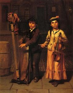 John George Brown - The Two Musicians