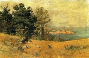 John Joseph Enneking - Berrying at the Seashore