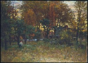 John Joseph Enneking - The Old Roundy House on the Neponset River