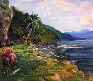 John La Farge - A Bridle Path in Tahiti (aka Bridle Path, Tahiti)