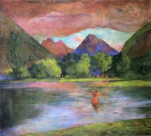 John La Farge - After-Glow, Tautira River, Tahiti
