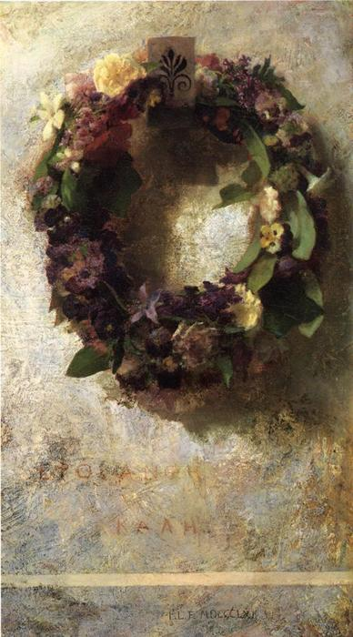 Agathon to Erosanthe, Votive Wreath by John La Farge (1835-1910, United States) | WahooArt.com