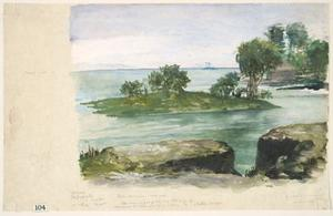 John La Farge - Buttresses of the First Christian Church, and Siga's Tomb at Sapapali, Samoa