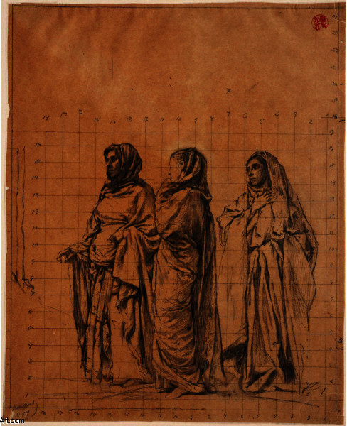 Study for ''The Three Maries'', Saint Thomas' Church, New York by John La Farge (1835-1910, United States)