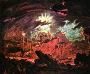 John Martin - The Fallen Angels Entering Pandemonium, from Paradise Lost