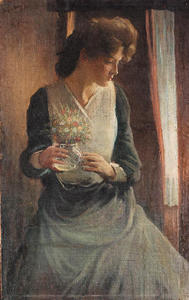 John White Alexander - Woman Looking Right