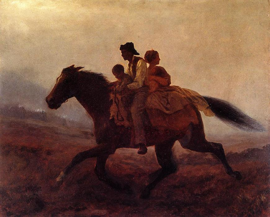 A Ride for Freedom - The Fugitive Slaves by Jonathan Eastman Johnson (1824-1906, United Kingdom)