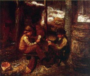 Jonathan Eastman Johnson - At the Maple Sugar Camp