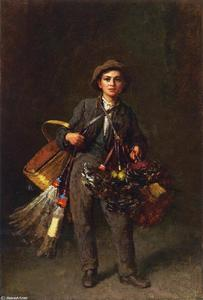 Jonathan Eastman Johnson - Feather Duster Boy