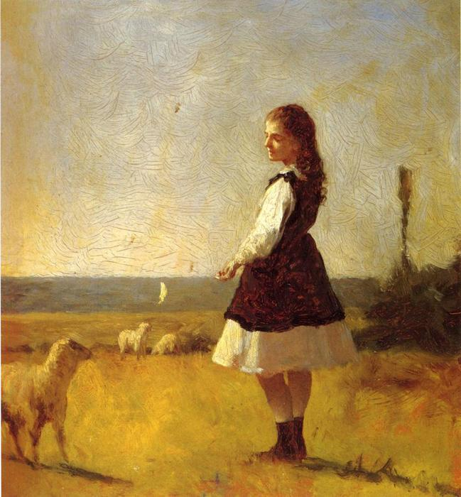 Feeding the Lamb by Jonathan Eastman Johnson (1824-1906, United Kingdom)