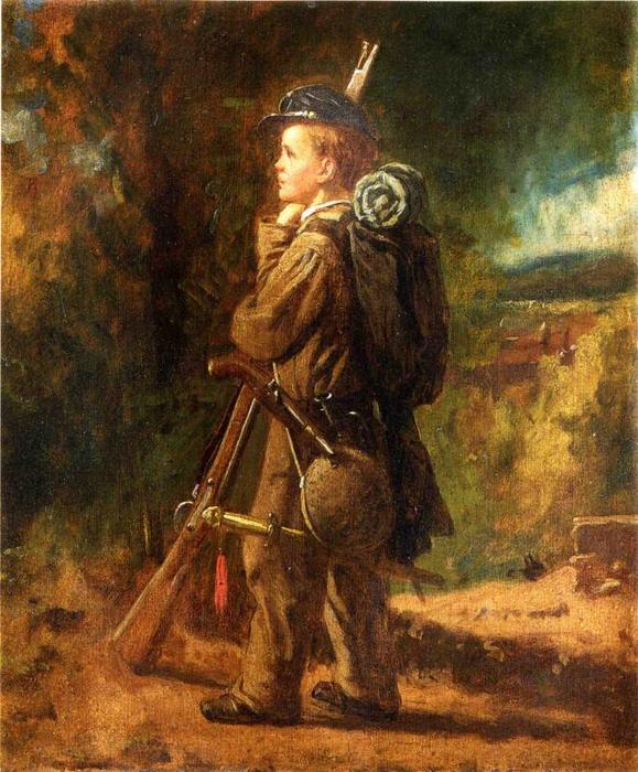 Order Art Reproduction : Little Soldier by Jonathan Eastman Johnson (1824-1906, United Kingdom) | WahooArt.com
