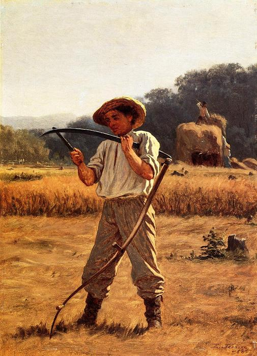 Man with Scythe by Jonathan Eastman Johnson (1824-1906, United Kingdom)