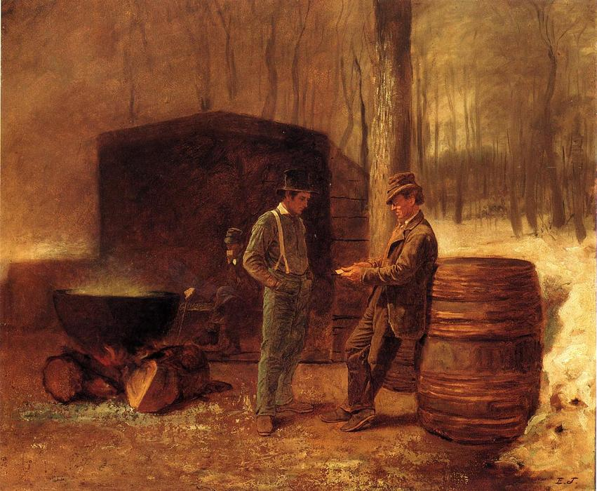 Measurement and Contemplation by Jonathan Eastman Johnson (1824-1906, United Kingdom) | Museum Quality Reproductions | WahooArt.com