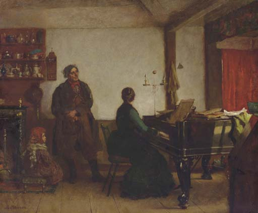 Play Me a Tune by Jonathan Eastman Johnson (1824-1906, United Kingdom)