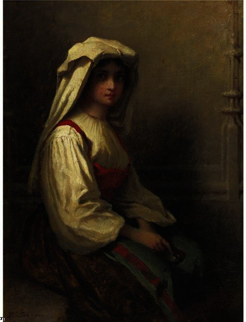 The Bohemian Girl by Jonathan Eastman Johnson (1824-1906, United Kingdom)