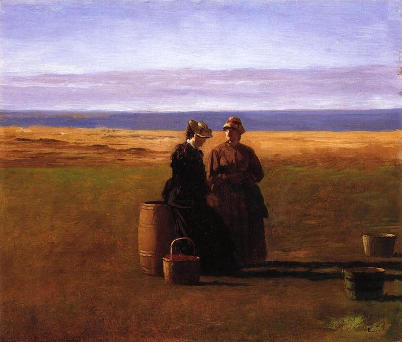 The Conversation by Jonathan Eastman Johnson (1824-1906, United Kingdom)