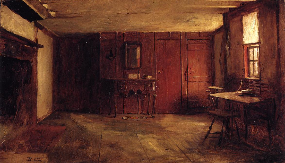 The Other Side of Susan Ray's Kitchen - Nantucket by Jonathan Eastman Johnson (1824-1906, United Kingdom) | WahooArt.com