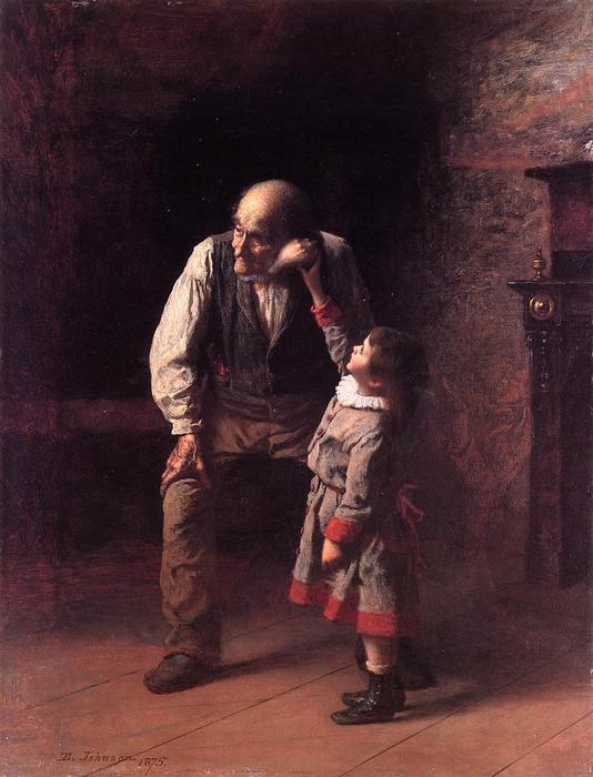 What the Shell Says by Jonathan Eastman Johnson (1824-1906, United Kingdom)