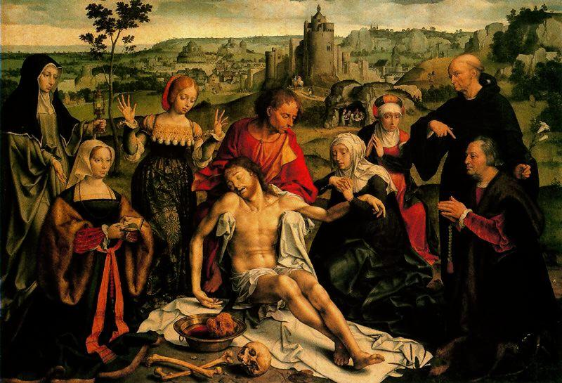 El lamento de Cristo by Joos Van Cleve (1485-1540, Germany) | Famous Paintings Reproductions | WahooArt.com