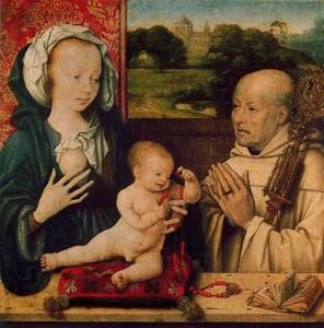 Joos Van Cleve - The Virgin and Child with a Dominican